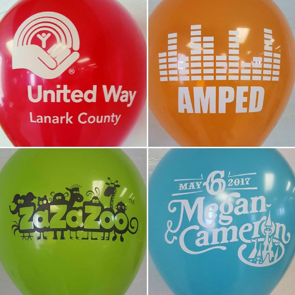 standard customized balloons